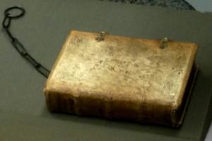 Pig Skin Bound Prayer book w/ Chain