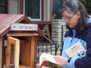 free books on Madison sidewalk