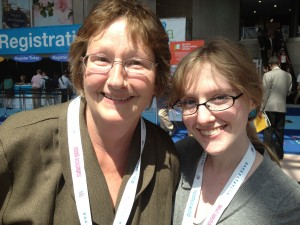 Jill Swenson and Claire Webber at Book Expo America - photo by Ashley Grill