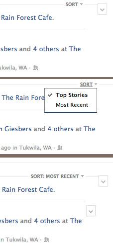 Sorting Facebook Newsfeed