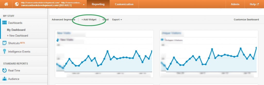 Dashboard Google Analytics Update
