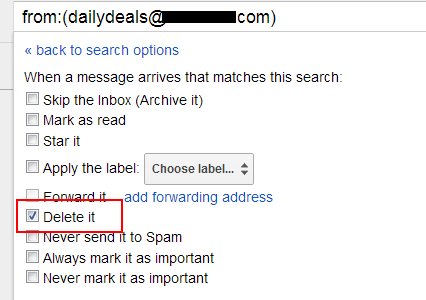 Automatically Delete incoming messages in gmail
