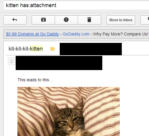 Search for emails with attachments in gmail