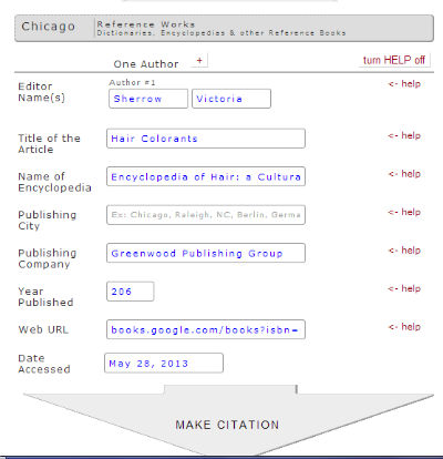 Using Citation Machine for Non-Fiction Citations