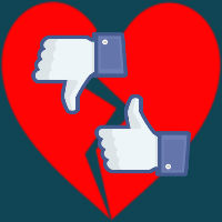social media heartbreak facebook