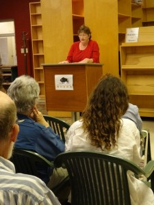 Jill reading at BSB