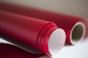 roll of wrapping paper red